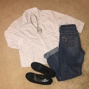 Christopher & Banks Button Down Shirt
